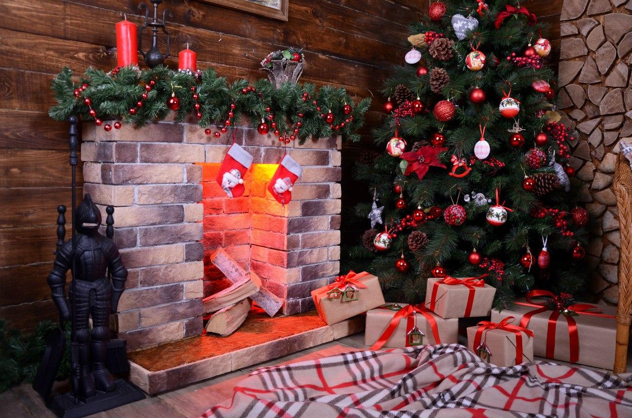 как украсить фон для новогодней фотосессии выходе получится нежный